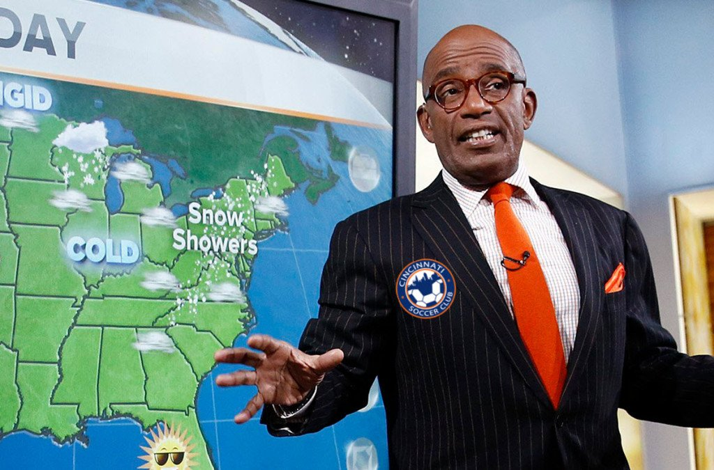 "Al Roker, explaining how the ""Rokerthon"" will divert storms around Newtown, OH."