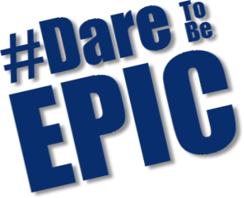 Dare to be EPIC hashtag
