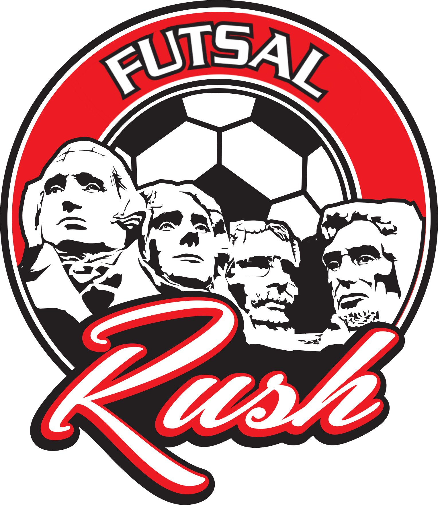 Presidents' Day Rush Futsal Logo