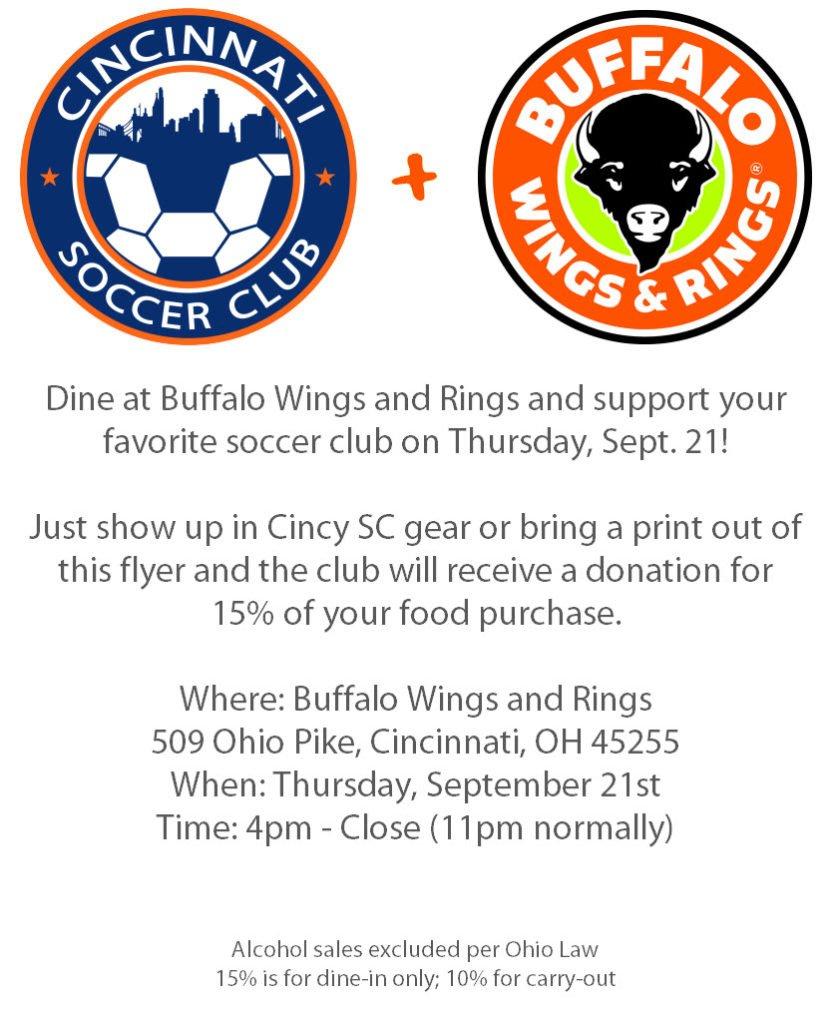 Buffalo Wings and Rings Fundraiser