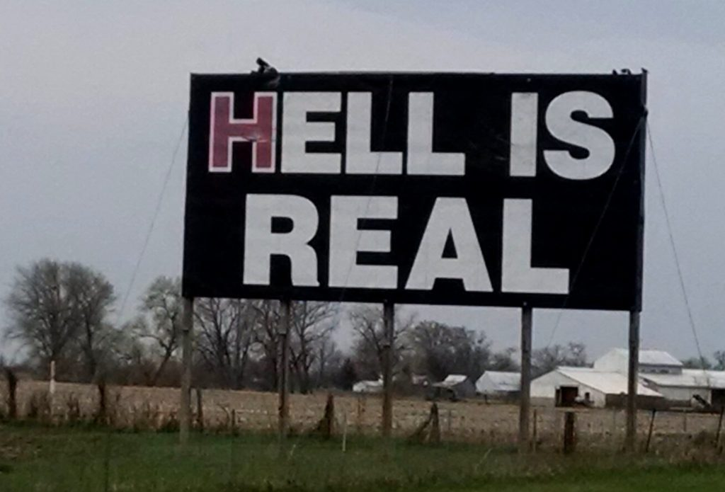Hell Is Real billboard