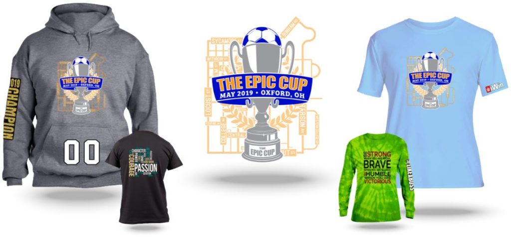 Official tournament apparel examples