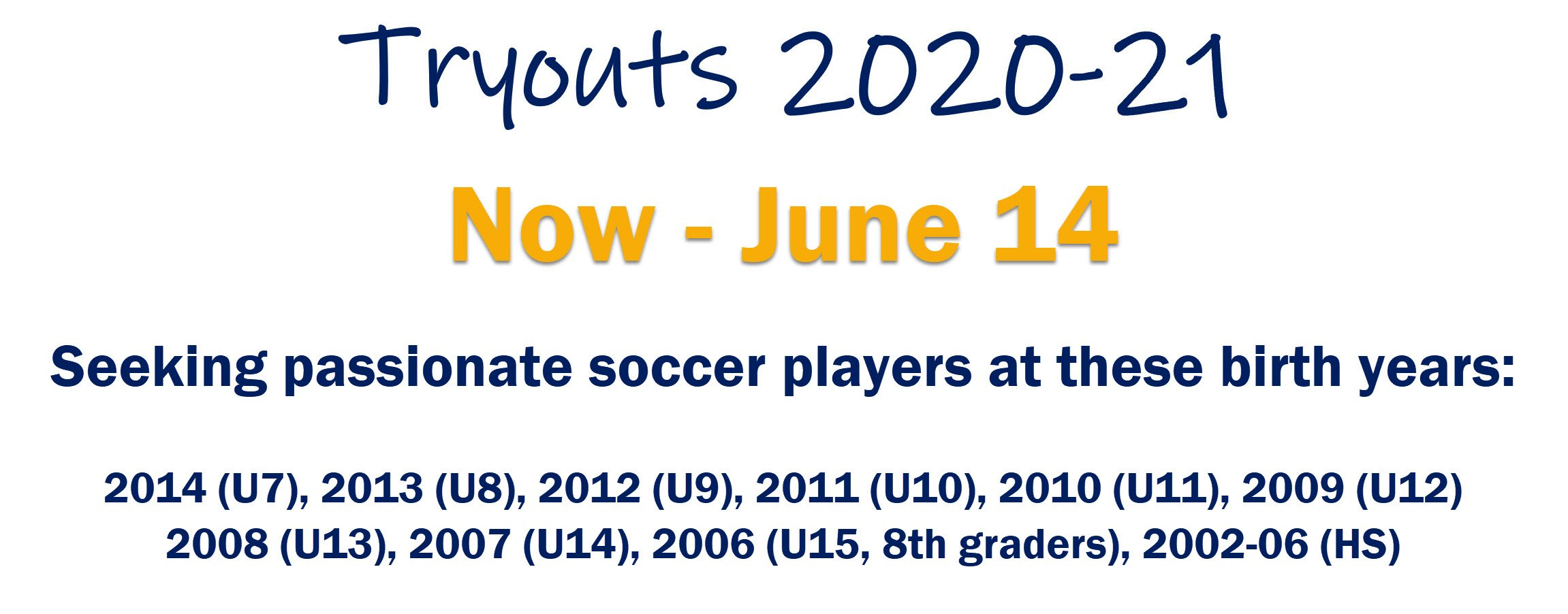 Cincy SC Tryouts 2020-21 Graphic
