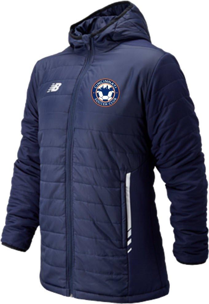 Men's Navy New Balance Thermal Stadium Jacket