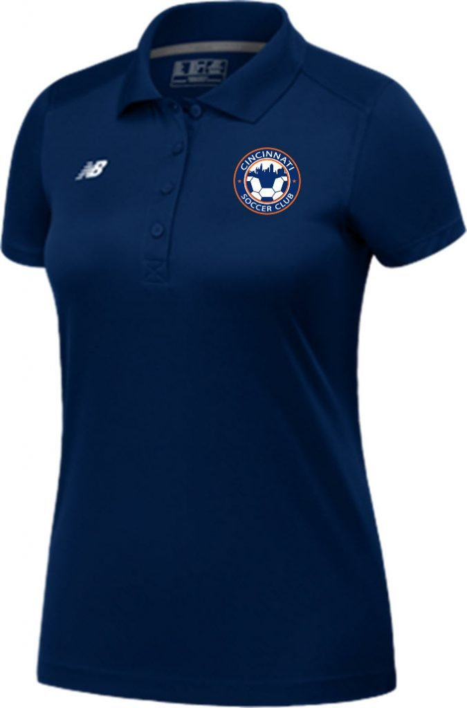 Women's Navy Polo with Club Logo